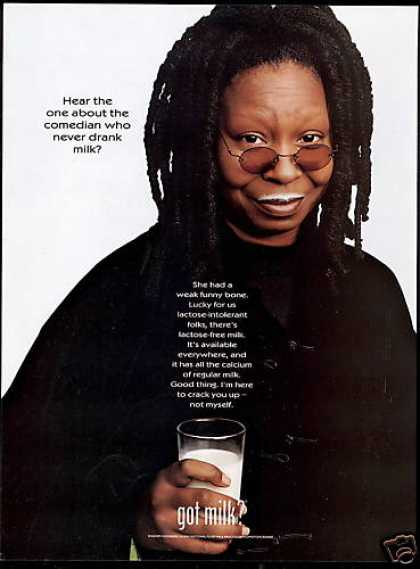 Whoopi Goldberg Photo Milk Board Mustache (1999)