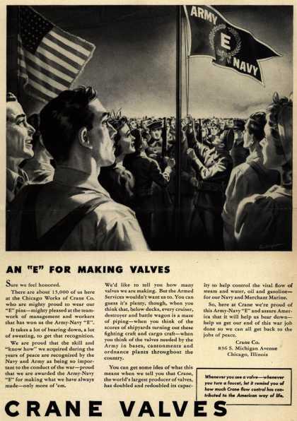 "Crane Co.'s Army Navy ""E"" – An ""E"" For Making Valves (1943)"