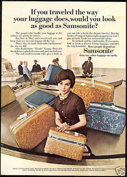Samsonite Luggage Exotic Group Photo (1969)