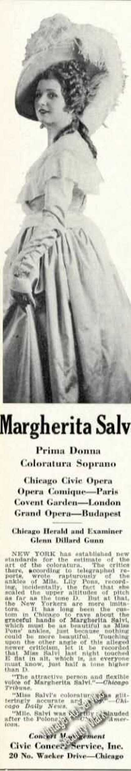 Margherita Salvi Photo Rare Ad Soprano Opera (1931)