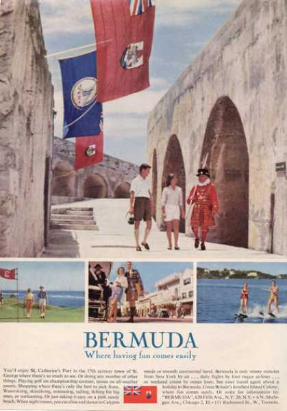 Bermuda Island Travel Golf Ski Catherine Fort (1964)