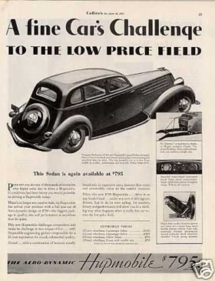 "Hupmobile Car Ad ""A Fine Car's Challenge... (1934)"
