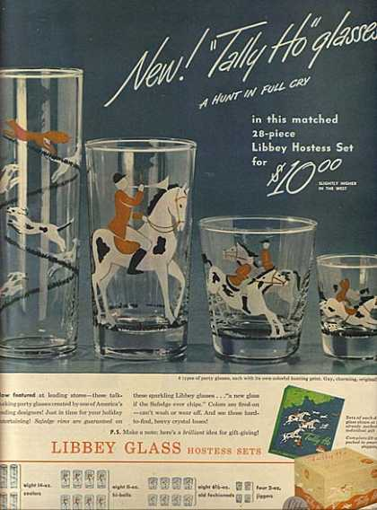 Libbey's Tally Ho glasses (1946)