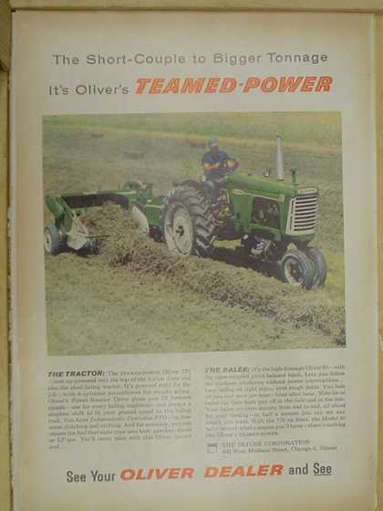 Oliver Tractors and Balers Teamed Power. (1959)