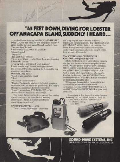 Sound Wave System Scuba Diver Phone (1979)