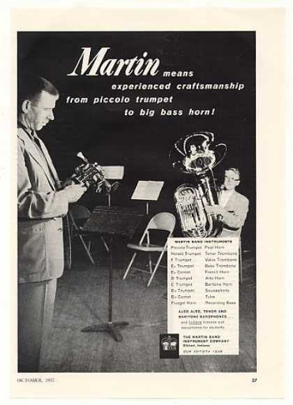 '57 Martin Band Instrument Piccolo Trumpet Bass Horn (1957)