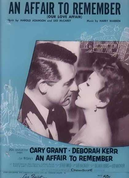 An Affair To Remember – Cary Grant Movie Sheet Music – Sold (1957)