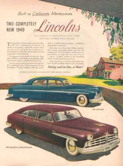 Lincoln Cosmopolitan Car – Blue & Burgundy (1949)