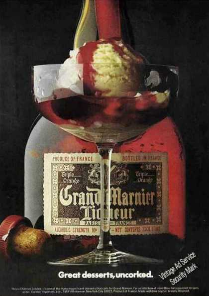 "Grand Marnieur ""Great Desserts Uncorked"" Nice (1973)"