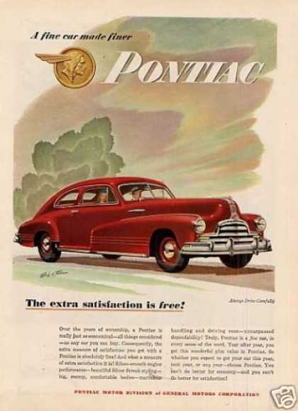 "Pontiac Car Ad ""The Extra Satisfaction... (1947)"