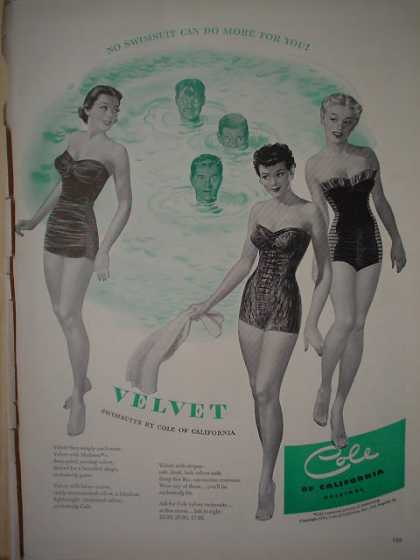 Cole of California Velvet Womens Swimwear (1950)