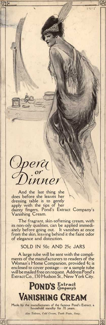 Pond's Extract Co.'s Pond's Vanishing Cream – Opera or Dinner (1915)
