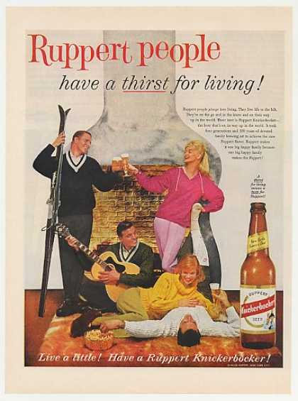 Ruppert Knickerbocker Beer Skiers People Thirst (1960)