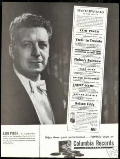 Ezio Pinza Photo Vintage Record Promo (1947)