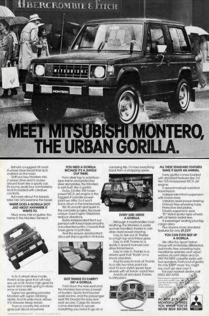 Meet Mitsubishi Montero the Urban Gorilla (1983)