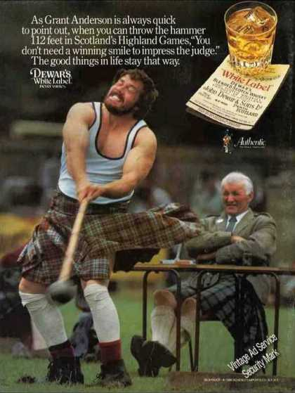 Dewar's Scotch 112 Foot Hammer Throw Photo (1987)