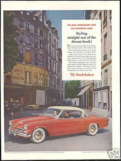 Studebaker Commander V-8 Starliner Car Photo (1953)