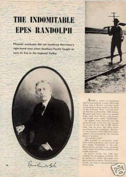 """The Indomitable Epes Randolph"" Article/sp (1950)"