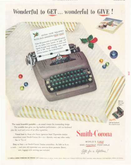 Smith Corona Portable Typewriter (1952)