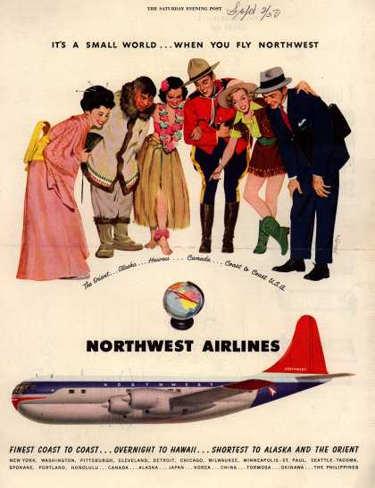 Northwest Airlines – It's A Small World ... When You Fly Northwest (1950)