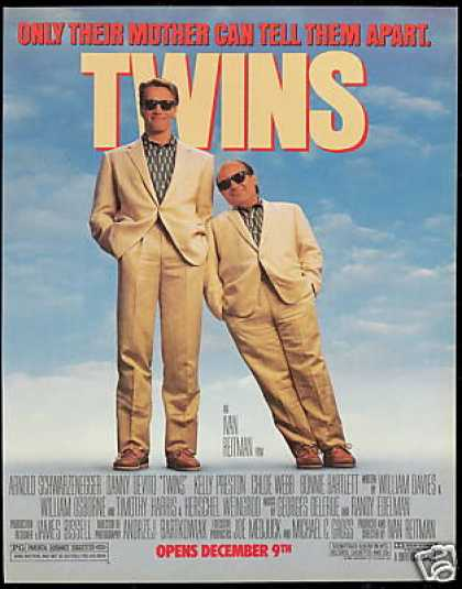 Twins Schwarzenegger Danny Devito Movie Promo (1988)