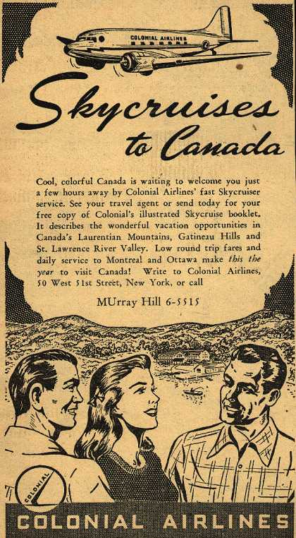 Colonial Airline's Canada – Skycruises to Canada (1946)