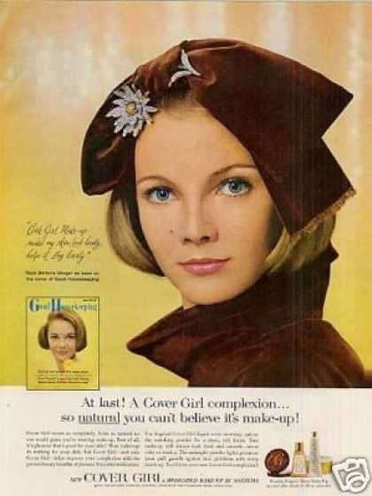 Cover Girl Make-up Ad Barbara Berger (1964)