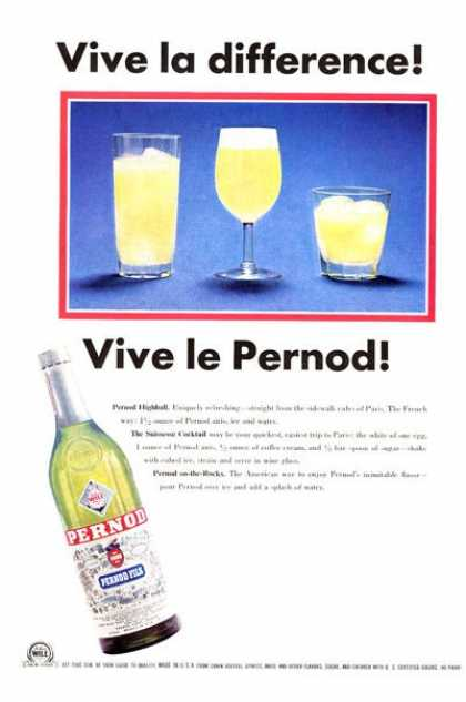 Pernod Vive La Difference (1965)