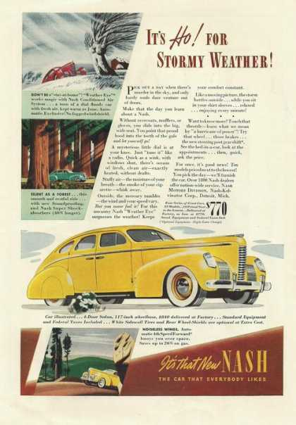 Yellow Nash Sedan Carprint (1939)