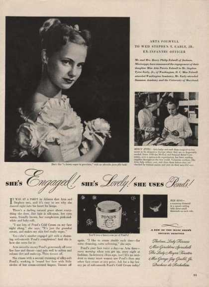 Ponds Cold Cream Cleansing (1946)