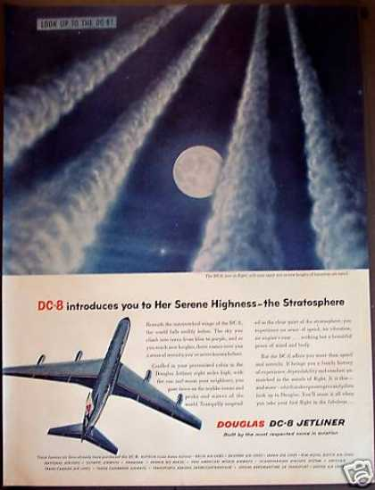 Douglas Dc-8 Jetliner Airplane Aviation (1958)