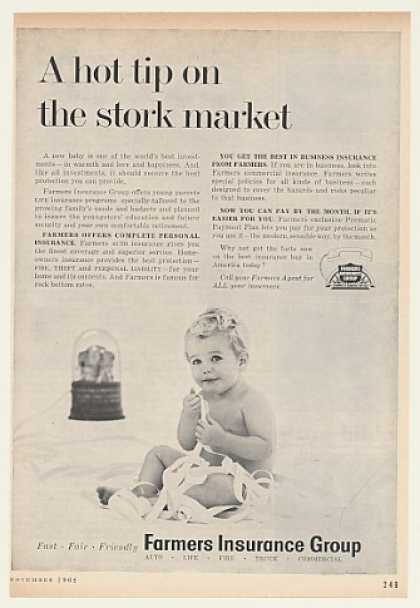 Farmers Insurance Group Baby Stock Ticker Tape (1962)