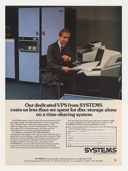 Systems VPS Computer System Photo (1979)