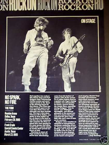 The Firm Jimmy Page Photo Revue Page Tx Concerts (1985)