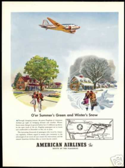 American Airlines Albert Dorne Art Air Travel (1940)