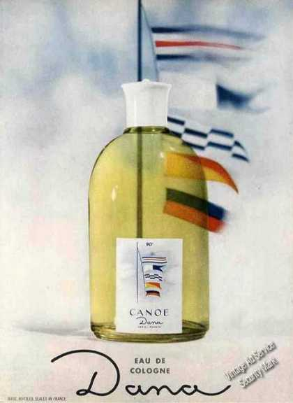 Canoe Eau De Cologne By Dana Large Bottle (1963)