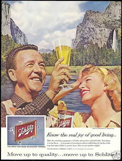 Schlitz Beer Can Glass Photo Vintage (1959)