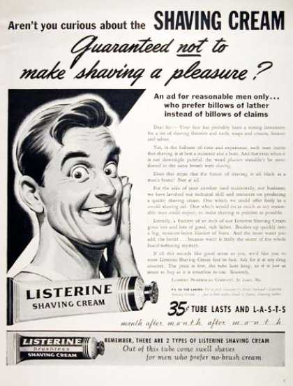 Listerine Shaving Cream (1944)