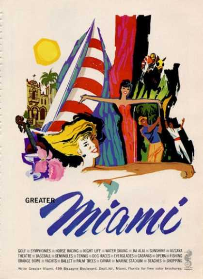 Miami Florida Reverse Is Clicquot Gold (1964)