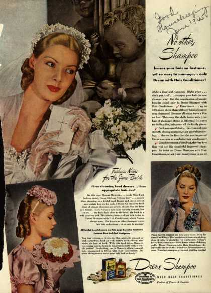 Procter & Gamble Co.'s Drene Shampoo with Hair Conditioner – No other Shampoo (1945)