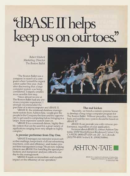Boston Ballet Ashton-Tate dBase II (1984)