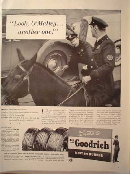 "BF Goodrich tires. Cops ad. ""look O'Malley"" (1941)"