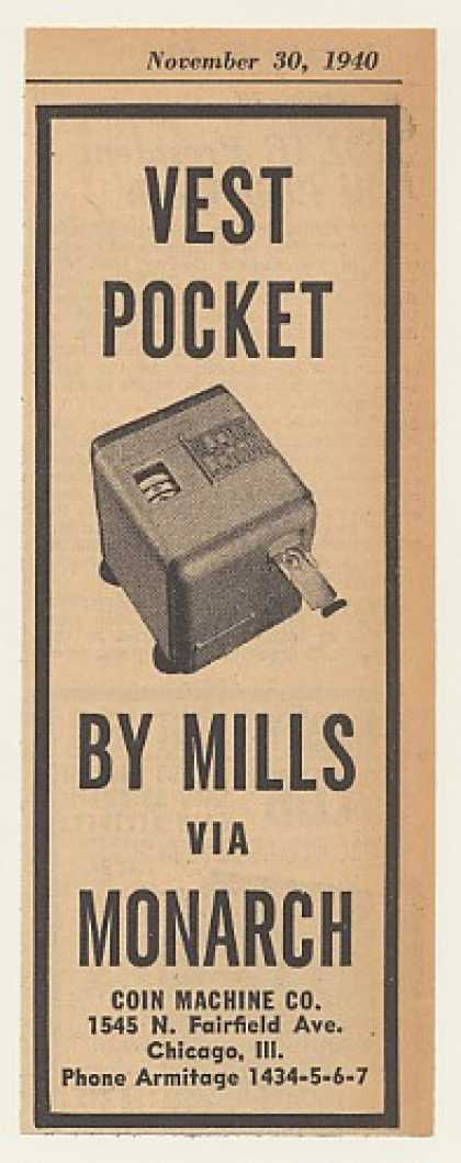 Monarch Mills Vest Pocket Slot Machine (1940)