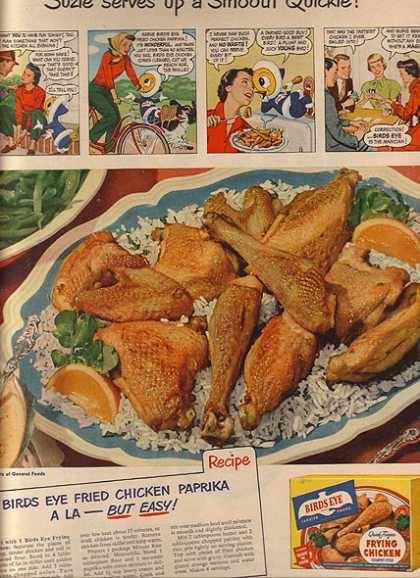 Birds Eye's Frozen Frying Chicken (1950)