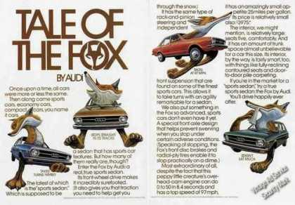 "Audi ""Tale of the Fox"" Clever 2 Pg (1975)"