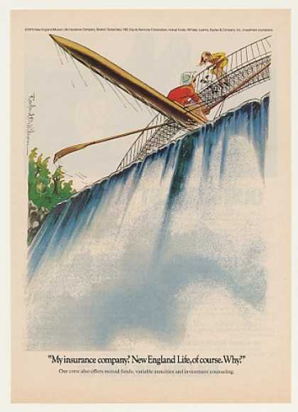 Kayak Waterfall Roland Wilson New England Life (1975)