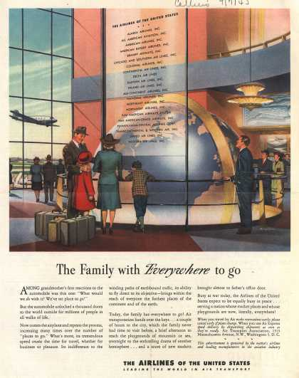 The Airlines of the United State's Air Travel – The Family with Everywhere to go (1945)