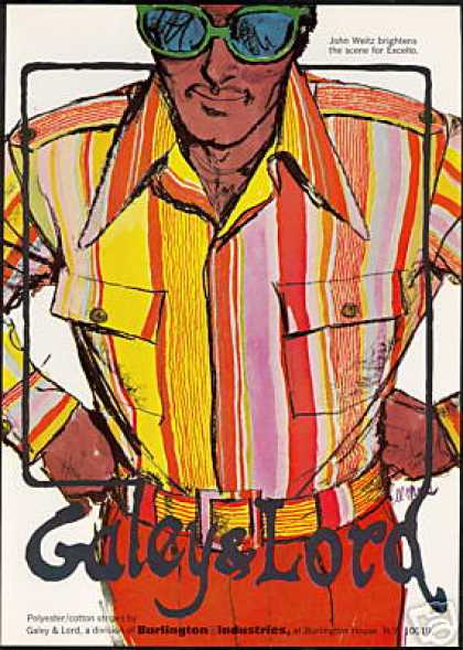 Galey Lord John Weitz Fashion Shirt Art (1971)