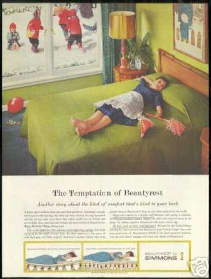 Simmons Beautyrest Mattress Mother Resting (1960)