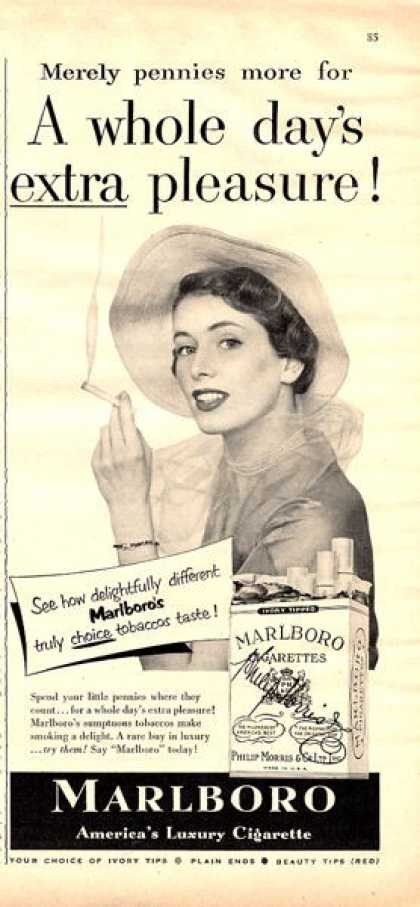 Marlboro Cigarettes Women Smoking (1950)